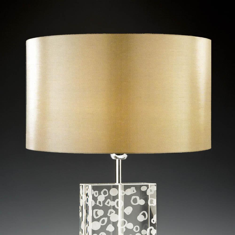 Lampenschirm Gold Rund 40 X 20 Cm Seide Online Shop Direkt Vom