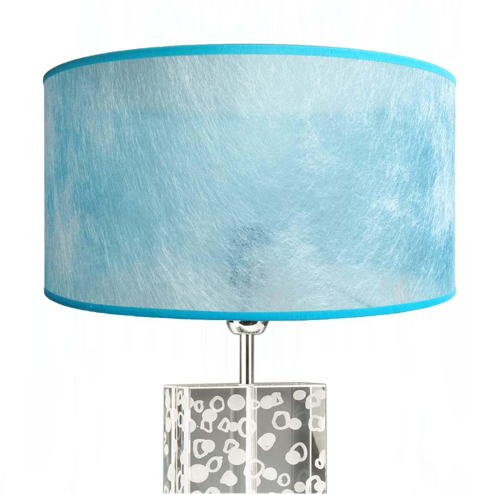 lampenschirm t rkis blau transparent 40 x 20 cm online shop direkt vom hersteller. Black Bedroom Furniture Sets. Home Design Ideas